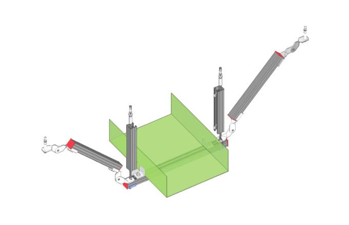 双吊式单向桥架支架