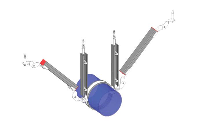 双吊式单向管道支架