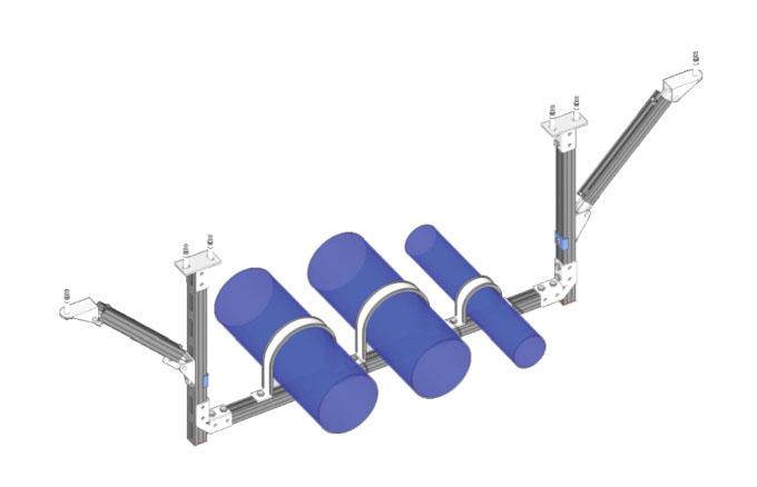 双吊式门型单向多管道支架